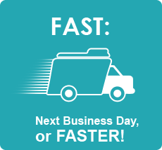Fast: Next Business Day or Faster!